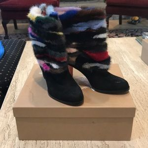 Christian Louboutin Fur Booties
